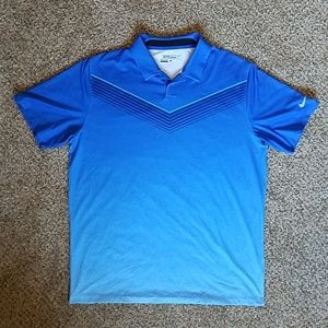 Men's Blue Ombre Golf Shirt